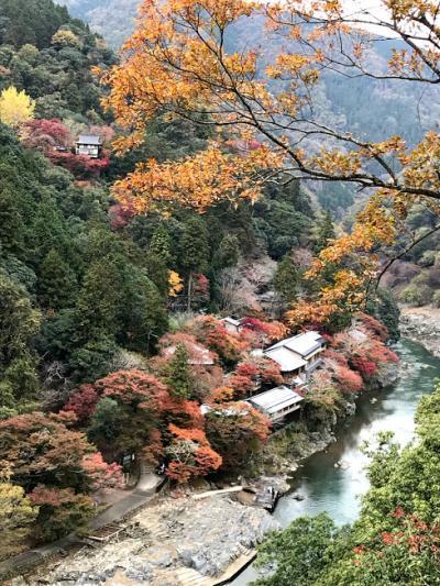2018年11月 嵐山紅葉 おすすめの千光寺 曇りのち雨のちに虹が出た。