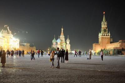 2018年09月ロシア(19) 夜のモスクワを歩く