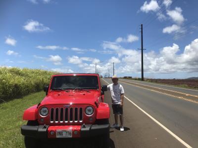 JEEPでオアフ島をドライブ
