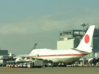 B747-47C 日本国政府専用機と羽田で遭遇。
