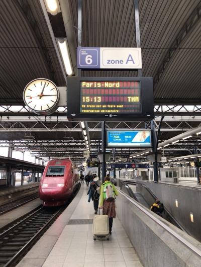 特典航空券Cクラスで行くパリ&日帰りブリュッセル1人旅 -4日目- タリスに乗って超弾丸ブリュッセル