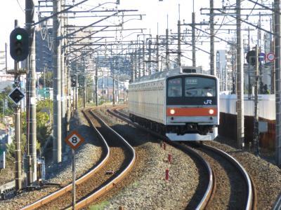 東京で、乗った電車を撮影