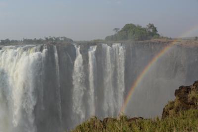 南部アフリカ4カ国7日間の旅(3)ビクトリアの滝(ザンビア、ジンバブエ)