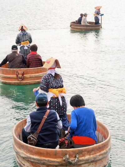 佐渡島23 小木 たらい舟-体験-(力屋観光汽船)☆湾内一周8分間/櫂-∞の字回しで