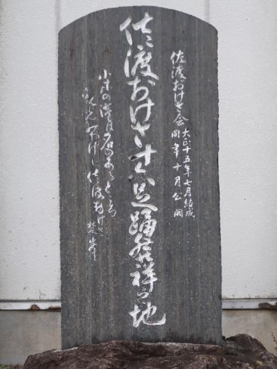 佐渡島24 小木「佐渡おけさ」盆踊り発祥の地 たらい舟 ☆おけさ柿 名産-土産品購入