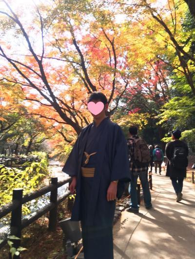 着物で行く子連れ旅 紅葉の京都 北野・嵐山