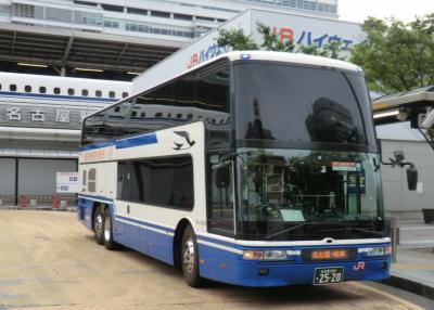 《納沙布岬→与那国島》日本縦断非鉄旅(西日本編)・その1.JR東海バス/ドリームなごや11号乗車記(東京→名古屋)。