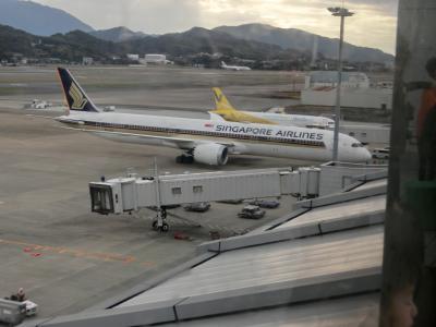シンガポール航空のB787-10が福岡空港にやって来た編