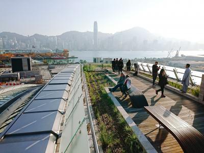 香港★西九龍駅の上にある公園をおさんぽ ~緑化空間・天空走廊・観景台~