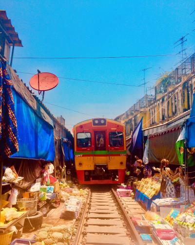 【タイプチ周遊】#7 バンコク~鉄道でアユタヤからの〝あいのりバン〟ロットゥーでメークローン鉄道とアンパワー水上マーケットで運河沿いに宿泊
