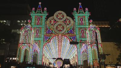 久々に神戸ルミナリエを見に行きました。