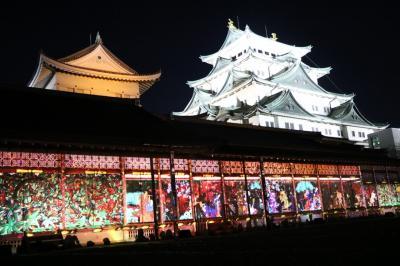 絢爛豪華な名古屋城 光の絵巻観賞歩き