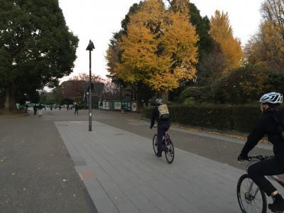 2018年12月15日 東京早朝サイクリング 渋谷→上野
