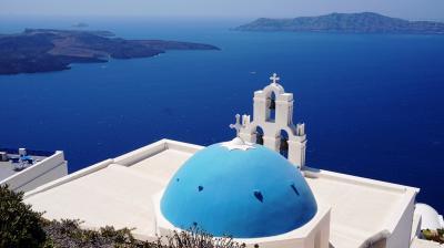 サントリーニ島・フィラ 夏の最盛期に行くヨーロッパ(9)ギリシャ