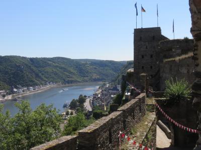 【世界遺産】ライン川沿いの街、ST・GOARの上に聳える古城ラインフェルス!!