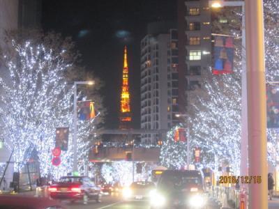東京六本木のけやき坂・イルミネイション・2018年12月