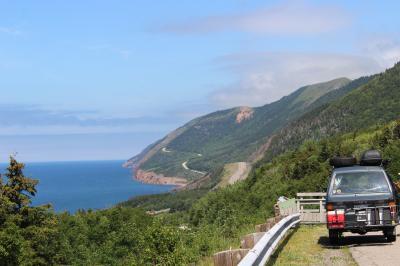 カナダ東部5州、ドライブ旅行2018 Day8-6(Cape Breton Island 8 まるでジェットコースターみたいなCabot Trail / Pleasant Bayから、Chéticamp辺りまで)