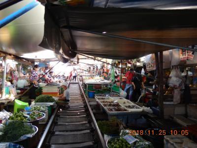 amazing THAILAND! (8)線路まではみ出している市場で有名なメークロン市場へ・・・