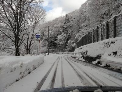 初冬の秋山郷で迎える朝☆1泊2日の男2人旅 (2日目)