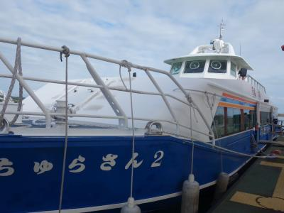 石垣港から西表島の大原港まで船の旅。あっという間でした。ずいぶん近いですね。