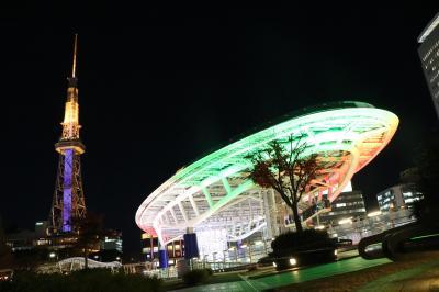 名古屋テレビ塔、久屋大通公園の全面改修工事が間近!テレビ塔上りおさめ、撮りおさめ歩き(夜の部)