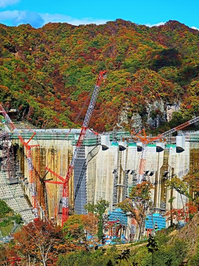 長野原-2 八ッ場ダム ふらっと見学会に参加 ☆ヘルメット着用し立ち入り制限区域へ