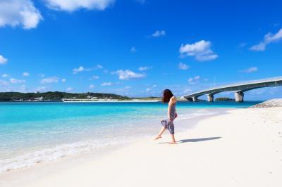 冬晴れの伊平屋島、女子一人旅