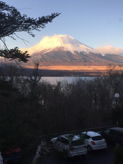 超久しぶりの山中湖畔のオーベルージュでクリスマスディナーで乾杯!
