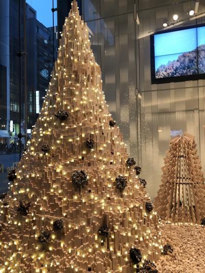 クリスマス三連休の初日、銀座でアフタヌーンティーとお買い物♡