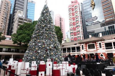 香港★クリスマス2018 香港島あちこちクリスマス風景 ~Pottinger Street・大館Tai Kwun・PMQ元創方~