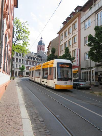 心の安らぎ旅行(2018年 春 Mainz マインツ Part21 Eine Strassenbahn トラム♪)