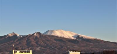 佐久でクリスマスの浅間山を見る