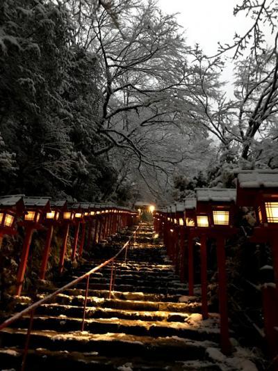 2018年12月 年末寒波で 貴船神社にやって来た!昨日と2連続で京都へ。