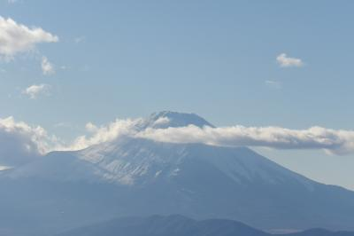 大山山頂から見る富士山
