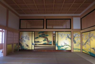 2018暮、東海三県の名城巡り(2/12):12月27日(2):名古屋城(2):本丸御殿、襖絵、表書院、対面所、上段之間、鷺之廊下