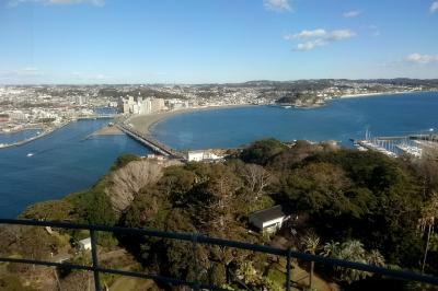 年末の江ノ島と鎌倉旅行 御料理旅館 恵比寿屋泊 シーキャンドル、鎌倉大仏も