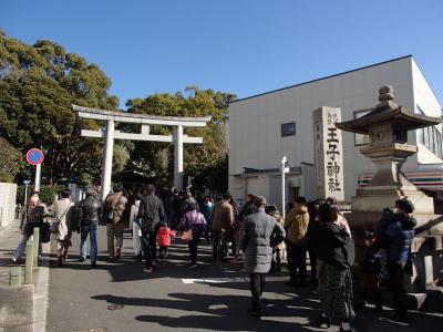 王子神社へ正午前(元旦)まで、2年参り。