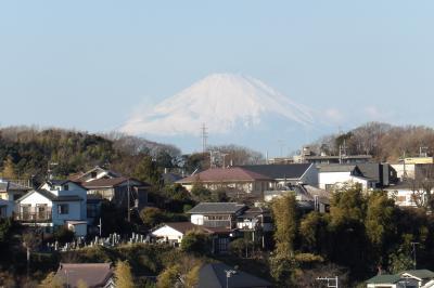 北鎌倉富士見道から見る初富士-2019年