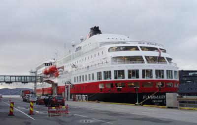 ノルウェー沿岸急行船往復 2018 虹の旅 1日目:ベルゲン空港~フッティルーテンターミナル~出発