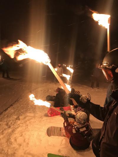 年越しをスキー場で~2019 ニセコたいまつ滑走