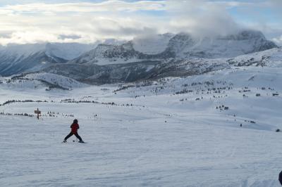 家族スキーで年越し(バンフ・カナダ)