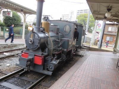 新年の四国(4)道後温泉駅から伊予鉄の坊っちゃん列車