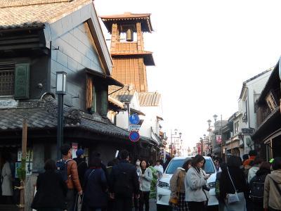 1月5日小江戸川越の正月風景を求めて散策しました③蔵造の街並み~時の鐘迄