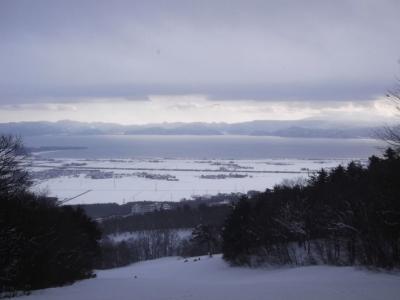 磐梯山周辺でスキー