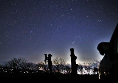 年末年始の「なんちゃって流星群」と、冬の八丁池・・・虹のおまけ付き