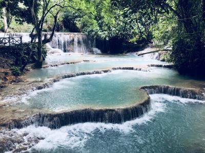 2018 JUN 古の仏都ルアンプラバン ぶらり一人旅 (2日目PM/4日間)クァンシーの滝と夜散策