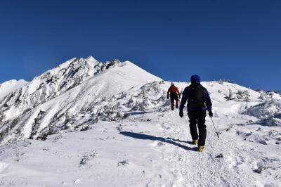 西穂高岳・独標 雪山登山と平湯温泉の旅