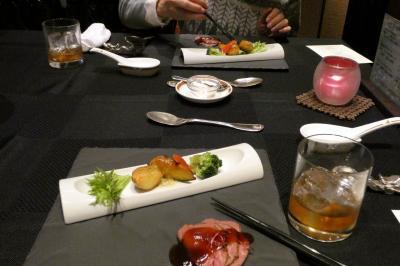 04.年越しのエクシブ山中湖3泊 中国料理 翠陽の夕食 ラウンジ ドルチェの喫茶