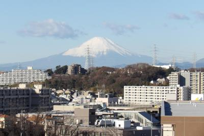 吉田町大日谷公園とその上から見える富士山