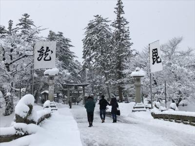 雪深き米沢…かなり上杉る街だった!